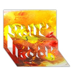 Fire, Lava Rock You Rock 3d Greeting Card (7x5)  by timelessartoncanvas