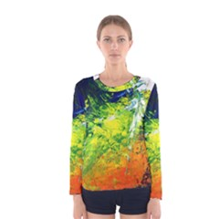 Abstract Landscape Women s Long Sleeve T Shirts