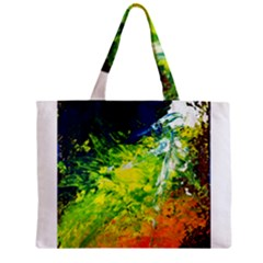 Abstract Landscape Zipper Tiny Tote Bags