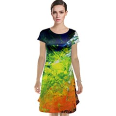 Abstract Landscape Cap Sleeve Nightdresses