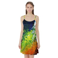 Abstract Landscape Satin Night Slip