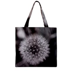 Modern Daffodil Seed Bloom Zipper Grocery Tote Bags by timelessartoncanvas