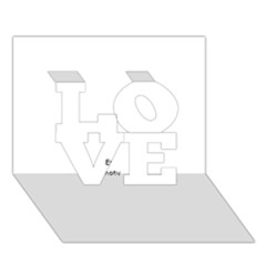 Comic Book Happy Birthday! Blue LOVE 3D Greeting Card (7x5)  by ComicBookPOP