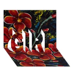 Hawaii Is Calling Girl 3d Greeting Card (7x5)  by timelessartoncanvas