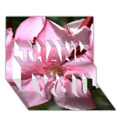 Pink Oleander THANK YOU 3D Greeting Card (7x5)  by timelessartoncanvas