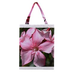 Pink Oleander Classic Tote Bags by timelessartoncanvas