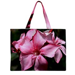 Pink Oleander Zipper Tiny Tote Bags by timelessartoncanvas