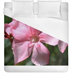 Pink Oleander Duvet Cover Single Side (kingsize) by timelessartoncanvas
