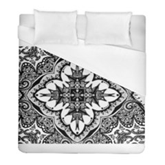 Doodlecross By Kirstenstar D70i5s5 Duvet Cover Single Side (twin Size) by KirstenStar