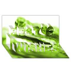 Green Frog Best Wish 3d Greeting Card (8x4)  by timelessartoncanvas