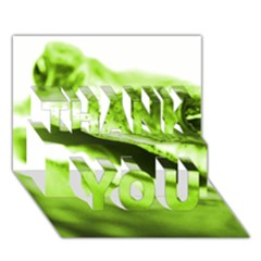 Green Frog Thank You 3d Greeting Card (7x5)  by timelessartoncanvas