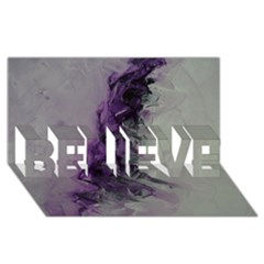 The Power Of Purple Believe 3d Greeting Card (8x4)  by timelessartoncanvas