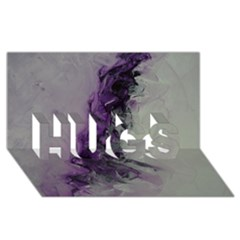 The Power Of Purple Hugs 3d Greeting Card (8x4)  by timelessartoncanvas
