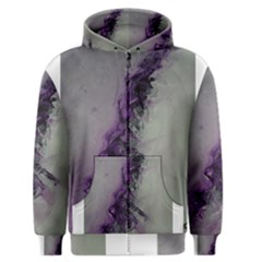 The Power Of Purple Men s Zipper Hoodies