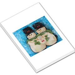 Snowman Family Large Memo Pads by timelessartoncanvas