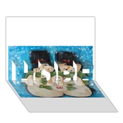 Snowman Family Hope 3d Greeting Card (7x5)