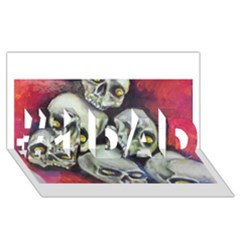 Halloween Skulls No 1 #1 Dad 3d Greeting Card (8x4)  by timelessartoncanvas