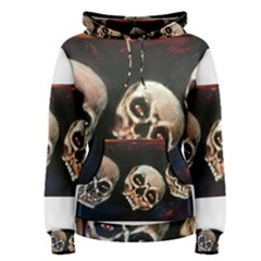 Halloween Skulls No  2 Women s Pullover Hoodies by timelessartoncanvas