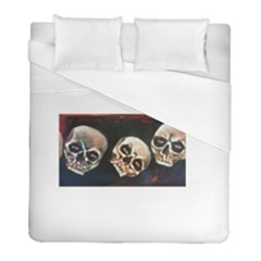 Halloween Skulls No. 2 Duvet Cover Single Side (Twin Size) by timelessartoncanvas
