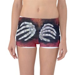 Halloween Bones Reversible Boyleg Bikini Bottoms by timelessartoncanvas