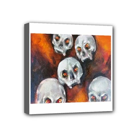 Halloween Skulls No  4 Mini Canvas 4  X 4  by timelessartoncanvas