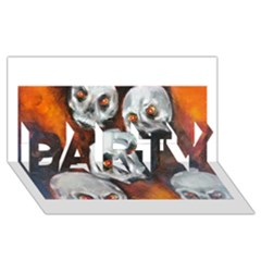 Halloween Skulls No  4 Party 3d Greeting Card (8x4)
