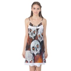 Halloween Skulls No  4 Camis Nightgown by timelessartoncanvas