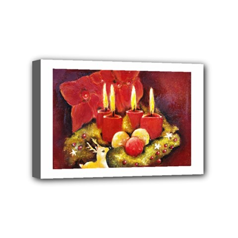 Holiday Candles  Mini Canvas 6  X 4  by timelessartoncanvas