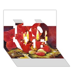 Holiday Candles  Love 3d Greeting Card (7x5)  by timelessartoncanvas