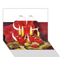 Holiday Candles  Clover 3d Greeting Card (7x5)  by timelessartoncanvas