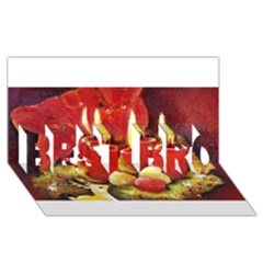 Holiday Candles  Best Bro 3d Greeting Card (8x4)  by timelessartoncanvas