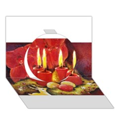 Holiday Candles  Circle 3d Greeting Card (7x5)  by timelessartoncanvas