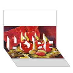Holiday Candles  Hope 3d Greeting Card (7x5)  by timelessartoncanvas