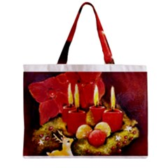 Holiday Candles  Zipper Tiny Tote Bags