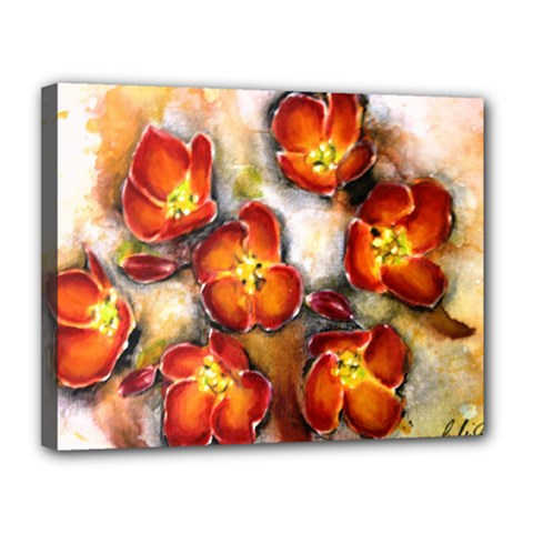 Fall Flowers Canvas 14  X 11  by timelessartoncanvas