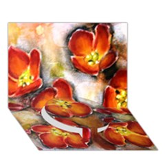 Fall Flowers Circle Bottom 3d Greeting Card (7x5)
