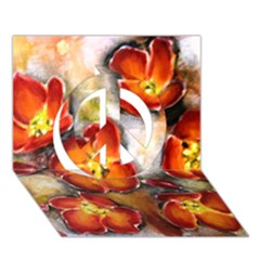 Fall Flowers Peace Sign 3d Greeting Card (7x5)  by timelessartoncanvas