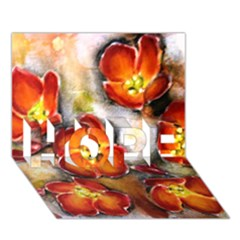 Fall Flowers Hope 3d Greeting Card (7x5)  by timelessartoncanvas