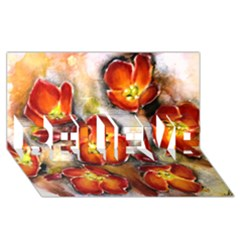 Fall Flowers Believe 3d Greeting Card (8x4)