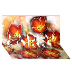 Fall Flowers SORRY 3D Greeting Card (8x4)