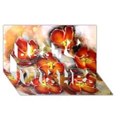 Fall Flowers Best Wish 3d Greeting Card (8x4)  by timelessartoncanvas