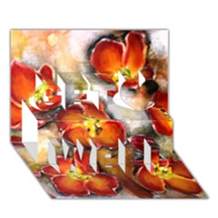 Fall Flowers Get Well 3d Greeting Card (7x5)  by timelessartoncanvas
