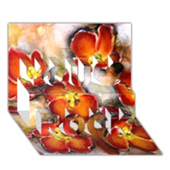 Fall Flowers You Rock 3d Greeting Card (7x5)  by timelessartoncanvas