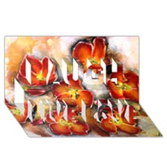 Fall Flowers Laugh Live Love 3d Greeting Card (8x4)  by timelessartoncanvas