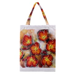 Fall Flowers Classic Tote Bags by timelessartoncanvas