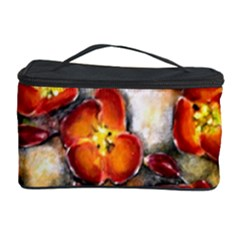Fall Flowers Cosmetic Storage Cases by timelessartoncanvas