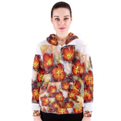 Fall Flowers Women s Zipper Hoodies by timelessartoncanvas