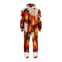 Fall Flowers Hooded Jumpsuit (kids)