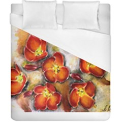 Fall Flowers Duvet Cover Single Side (double Size) by timelessartoncanvas