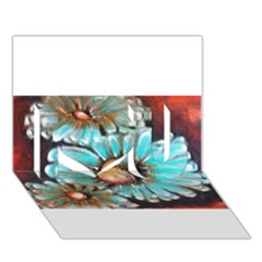 Fall Flowers No  2 I Love You 3d Greeting Card (7x5)  by timelessartoncanvas